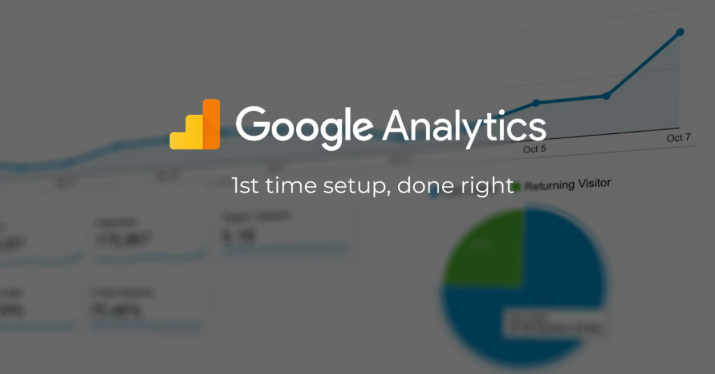 google analytics first time setup