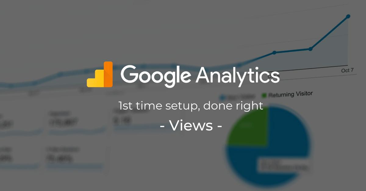 google analytics first time setup